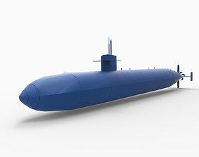 3D print model USS Dallas SSN-700