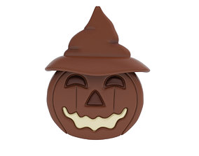 3D model Halloween chocolate figurine with hat