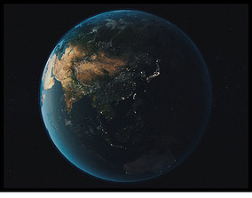 High Realistic Earth Model 3D asset game-ready