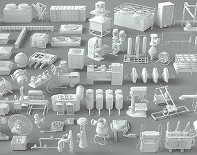 3D model Factory Units-part-2 - 57 pieces