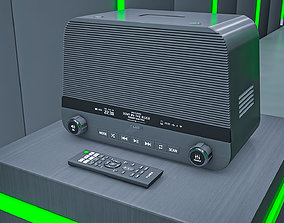 Modernized Tube Radio and Remote 3D model