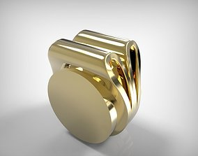 3D printable model Jewelry Double Ring Pipe Shaped
