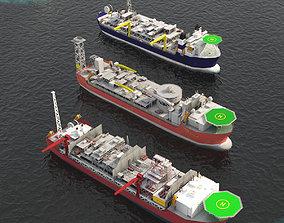3D asset FPSO offshore platform pack