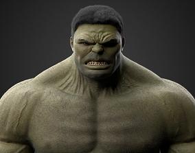 The Hulk 3D asset rigged