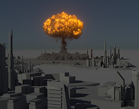 Houdini Power Asset - Nuclear Explosion 3D model
