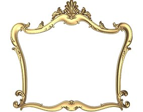Carved Picture Frame 3D retro ornate architectural