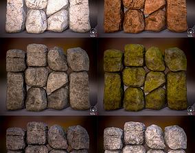 Boulder Rock Set 4K PBR Textures 3D asset