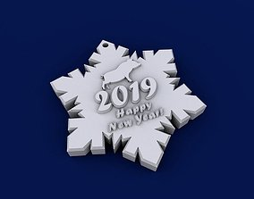 3D print model Happy new year 2019