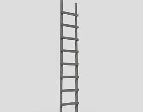 3D model low-poly PBR Ladder