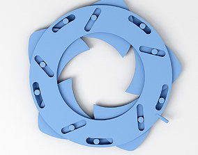Mechanical Blade Iris Diaphragm 3D model
