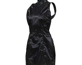 Open Back Vinyl Dress 3D model