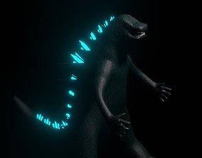 3D model VR / AR ready Godzilla - Monster - King of