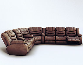 Corner sofa Ashley Revolution Burgundy 3D model
