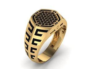 black-ring 3D printable model Man Ring Enamel