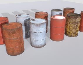 3D model Barrels mix Pack 2