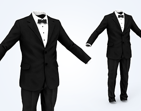 Business Suit Man 3D model low-poly