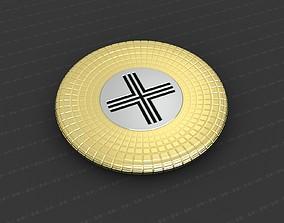 Cross Medallion 3D printable model worship coins