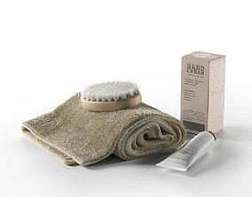 3D model Rexa Spa Set Towel Brush and Cream