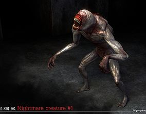 3D asset animated Nightmare Creature 1
