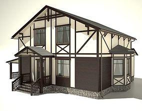 3D model House exterior fachwerk