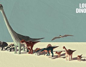 3D model Low Poly Dinosaurs Pack