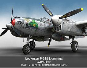 Lockheed P-38 Lightning - Gung Ho us 3D model
