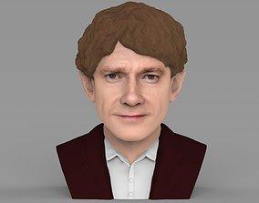 Bilbo Baggins Hobbit bust ready for full color 3D