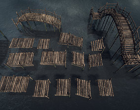 3D model Modular Dock system