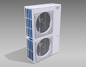 3D asset Single-phase Toshiba Carrier VRF Heat Pump 1