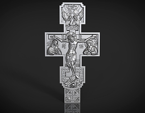 Orthodox cross bas-relief orthodox 3D printable model