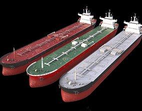 3D asset low-poly PANAMAX tanker 245m