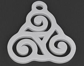 3D printable model Triskelion Pendant 03