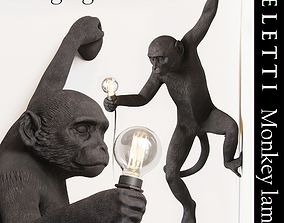 3D asset The Monkey Lamp Hanging Version