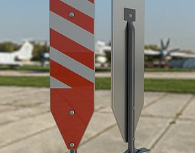 3D model building Vertical Panel Channelizer Barricade