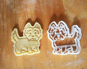 3D printable model West Terrier dog cookie cutter