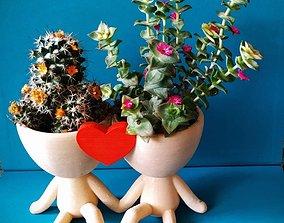 Robert Plant Pot couple with heart 3D printable model