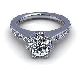 Solitaire Diamond Ring R3 3D print model