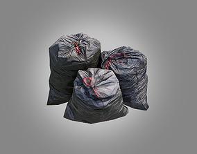 3D model 4 Trash Bag Bundle