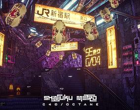 3D model Shinjuku Metro C4d Octane Scene