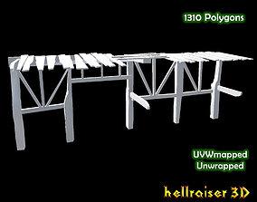 3D model Wooden Platform