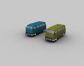 3D model Lowpoly Van 4