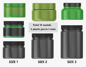 PBR Plastic Jars for Mockup 15 models
