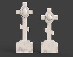 Cross tombstone 3D print model