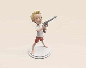 3D printable model Boy with the gun