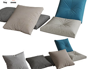 Pillows set 06 3D model furnishing