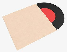 Vinyl record and cover mockup 02 3D
