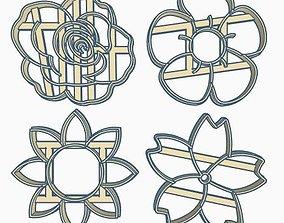 Flower Cookie Cutter Set 3D print model