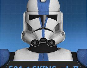 Clone trooper 501st phase II 3D asset