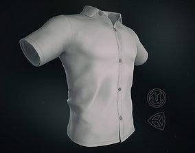 White Summer Shirt 3D model