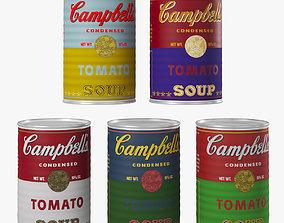 Campbell Soup set 3D